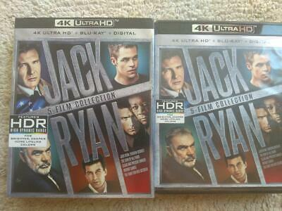 Jack Ryan 5 Film Collection - 4k Ultra HD Blu ray and Blu ray set- No Digital