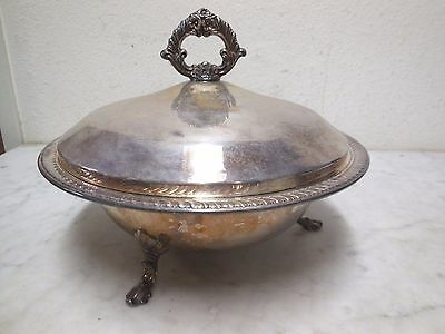 Antique Silver Plate FB Rogers Silver Co 1883 Hallmark Serving Dish W Lid 1258