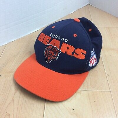 97d9a22db Mitchell and Ness NFL Chicago Bears Snapback Hat Vintage Blue Orange