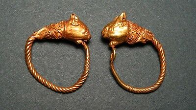 ANCIENT GOLD EARRINGS PROVENANCE: CHRISTIE'S HELLENISTIC 3rd-2nd CENTURY BC