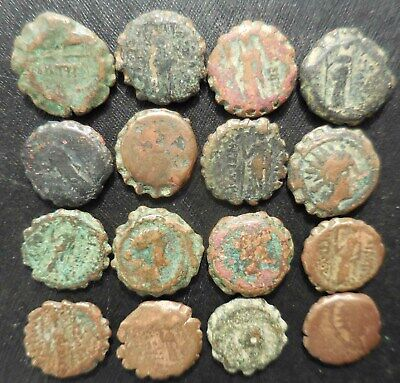 One Day Sale, Lot of 16 Ancient Serrated Coins of the BC Seleucid Empire!