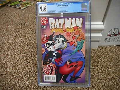 7915b1c71adb Batman Adventures 3 cgc 9.6 Harley Quinn Joker kissing cover WHITE pgs MINT