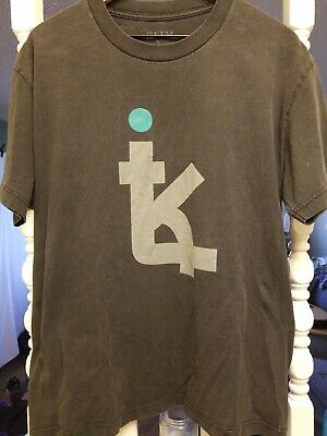 "3ee101e4 KITH NYC x Asics ""Super Green"" Box Logo Tee Shirt LARGE ronnie fieg long"