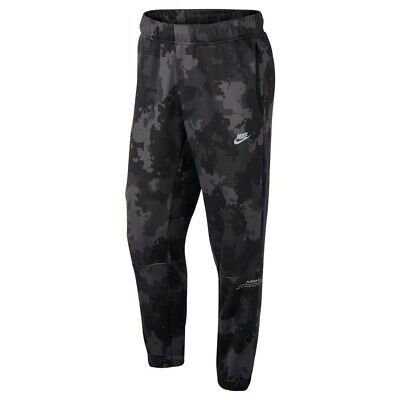 f3cb1af2ec Nike Sportswear Air Max Digital Camo Joggers Pants Tapered Black Gray  AH8486 XL