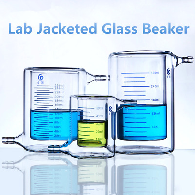 Lab Double Jacketed Glass Beaker for Photocatalytic Experiment High Silicon