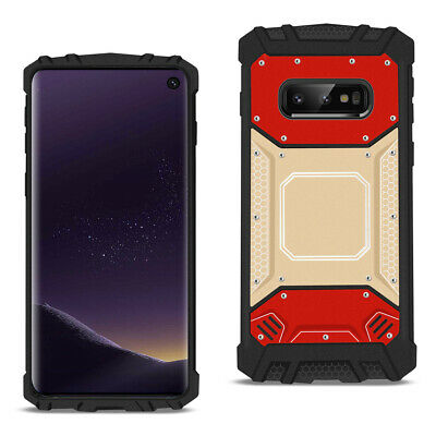 SAMSUNG GALAXY S10 Lite(S10e) Metallic Front Cover Case In Red and Gold