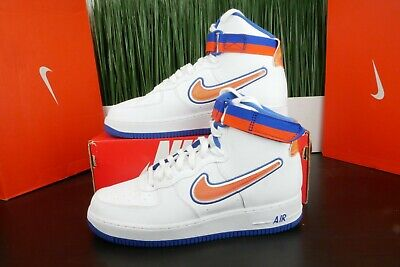 big sale 7cf88 632ae Nike Air Force 1 High Sports NY Knicks White Team Orange AV3938-100 Multi  Size