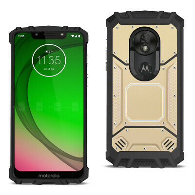 MOTOROLA MOTO G7 PLAY Metallic Front Cover Case In Gold