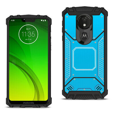 MOTOROLA MOTO G7 POWERMetallic Front Cover Case In Blue
