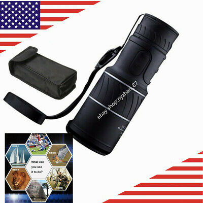 40X60 HD Monocular Telescope LLL Night Vision For Hunting Camping Hiking US
