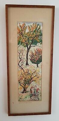 Emil Armin Original Rare Mid Century Painting, Signed and Dated, Unusual Size