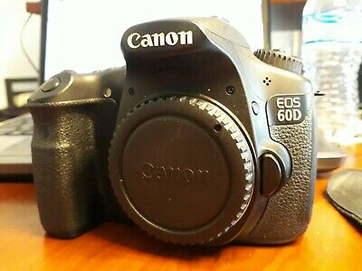 Canon EOS 60D DSLR Camera (Body Only) + 2 Batteries, Charger, Backpack