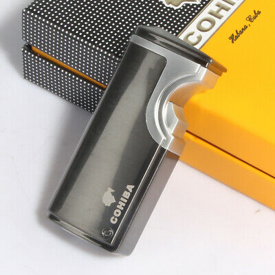 COHIBA 3Torch Jet Flame USB Recharge Cigar lighter Butane Finish Touch Induction