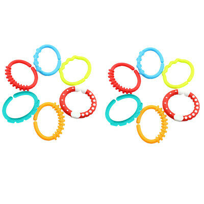 12x Baby Teether - Silicone Sensory Teething Ring Toys - Fun, Colorful
