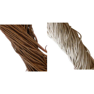Waxed Cotton Cord 2mm-2 Colors - 2 Packs String Thread Jewellery Making 10m