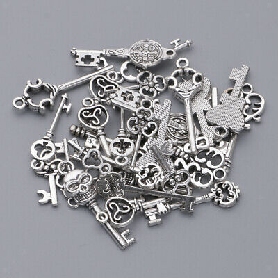 3 PC Assorted Antique Silver Key Charms Pendants Jewelry Making Findings #1358H