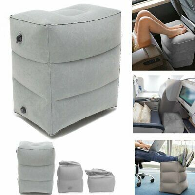 Inflatable Travel Footrest Leg Foot Rest Pillow Portable Air Pad Relax Kids Bed