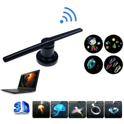 3D LED WiFi Holographic Projector Display Fan Hologram 360 ° Player Advertising