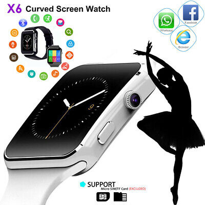 X6 Curved Screen Bluetooth Smart Wrist Watch Phone for Samsung Phones Android
