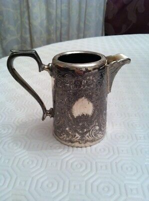 Antique John Henry Potter Cream Milk Water Jug - Silver Plate Sheffield