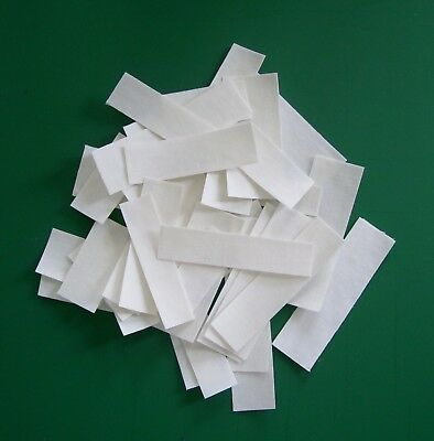 """40 Cotton """"Blank"""" Iron On Name Labels"""