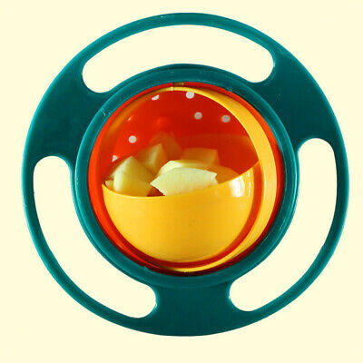 Child Baby Universal Feeding 360 Degree Rotate Spill-Proof Gyro Bowl Dishes
