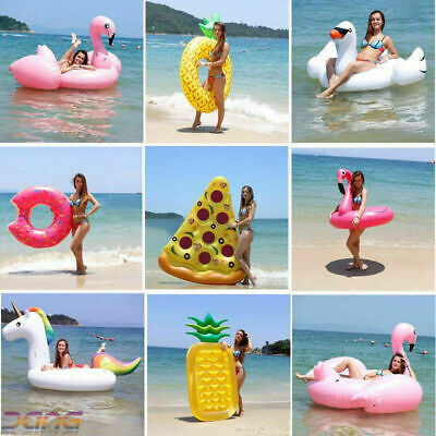 17styles Inflatable Swimming Floats Raft Swim Pool Foldable Water Beach Toy UK