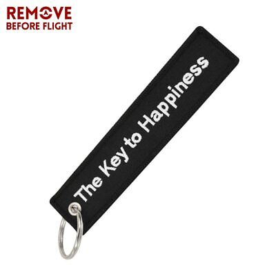 The Key to Happiness key tag chain ring for home car boat cabin motorcycle