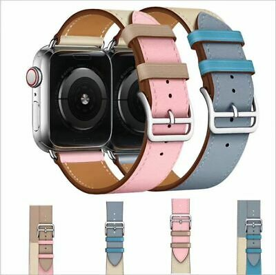Leather Watch Band Belt Strap For Apple Watch Series 4/3/2/1 38/40/42/44MM