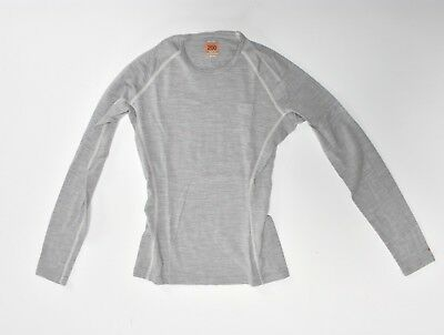 icebreaker BODYFIT 200 woman XS new zealand merino hellgrau light grey