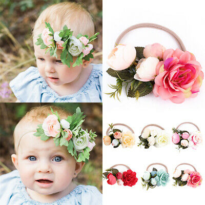 Cute Kids Girls Baby Lovely Flower Headband Hair Accessories Hair Band Headwear