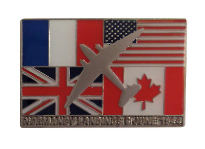 Operation Overlord 75th Anniversary D Day Landings 1944 Allies Flags Pin Badge