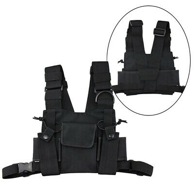 Outdoor Chest Harness Bag Travel Backpack Accessory For Walkie-talkie Pack Pouch