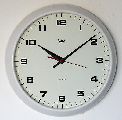 VINTAGE 35cm White Smiths Astral Wall Clock - Retro Large Kitchen Office Gift