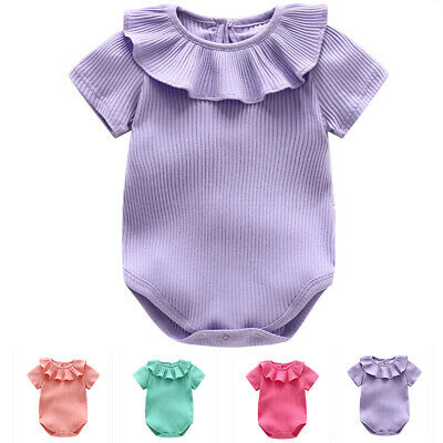 0-18month Girl Knitted Romper Newborn Baby Clothes Short Sleeve Jumpsuit Outfit