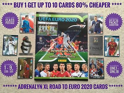 Panini AdrenalynXL Road to UEFA Euro 2020 Cards, Buy 2 Get 4 Free, UNL 1-18