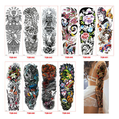Waterproof 3D Men Arm Tattoo Temporary Tattoos Sticker Fake Tatoo Body ArtWFIT