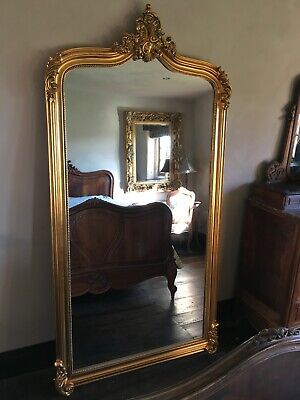 Vintage Gold Gilt Ornate French Wedding Statement Dress Arch Leaner Mirror 6ft