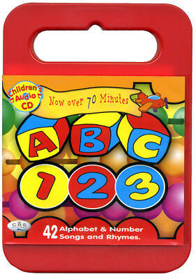 ABC 123 CD Alphabet & number songs and rhymes for kids in KIDZCASE   *NEW*