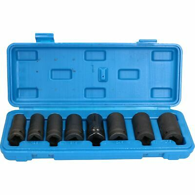 """1/2"""" Drive Impact Nut Wheel Lock Remover Removal Sockets 8pc 17mm – 27mm"""