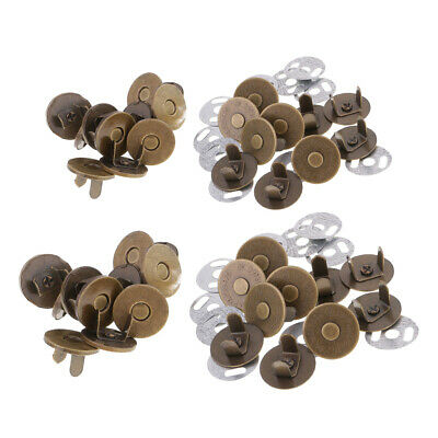 20 Sets 14/18mm Magnetic Fastener Snaps Clasp for Purse Button Sewing Tools