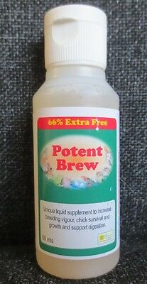 POTENT BREW 50ml - POWERFUL SUPPLEMENT- Birdcare Co - Replaces the 30ml