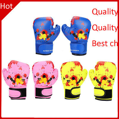 Baby Girls Boys Children Boxing Gloves Punch Training Kids Fight Mitts