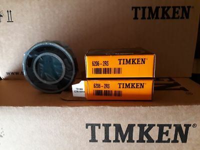 Lot de 2 roulements Timken 6206 2RS Ø30xØ62x16 étanche 2 joints nitrile