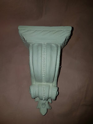 2 x Architectural ornate plaster curtain pole corbels wall decor plaques new diy