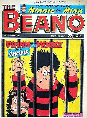 THE BEANO - 6th MAY 1989 (4 - 10 May) - SPECIAL 30th BIRTHDAY GIFT !! VGC sparky