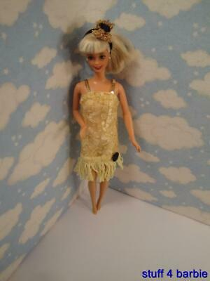 Barbie Doll Mattel Fashion 2002 Discover the World-Chicago-1920's Flapper Dress