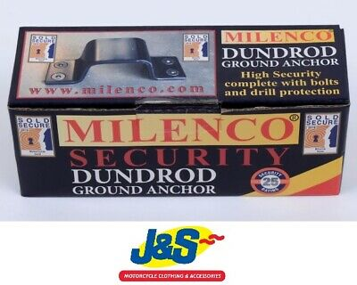 Milenco Dundrod Ground Anchor Motorcycle Motorbike Scooter Security Device