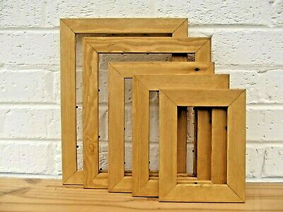 Photo/Picture Frame/Antique Pine/Natural Wood/Rustic/Hand Finished/Choice Sizes