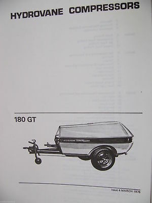 Hydrovane 180 GT Service & Repair / Workshop Manual 166 page pdf Sent via Email